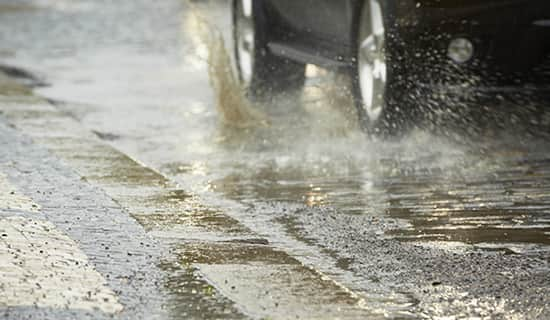 #BeSafe when driving in heavy rain